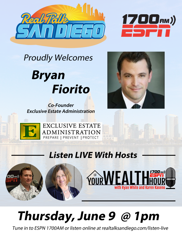 Co-founder Bryan Fiorito on the air with ESPN 1700 AM - Your Wealth Hour.
